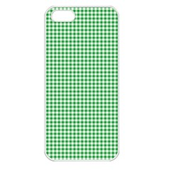 Green Tablecloth Plaid Line Apple Iphone 5 Seamless Case (white) by Alisyart
