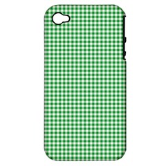 Green Tablecloth Plaid Line Apple Iphone 4/4s Hardshell Case (pc+silicone) by Alisyart
