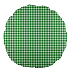 Green Tablecloth Plaid Line Large 18  Premium Round Cushions by Alisyart