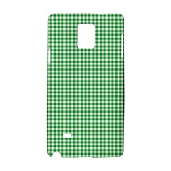 Green Tablecloth Plaid Line Samsung Galaxy Note 4 Hardshell Case by Alisyart