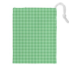 Green Tablecloth Plaid Line Drawstring Pouches (xxl)