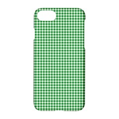 Green Tablecloth Plaid Line Apple Iphone 7 Hardshell Case by Alisyart