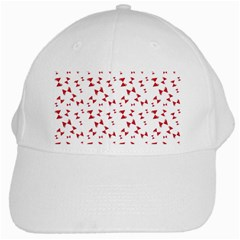 Hour Glass Pattern Red White Triangle White Cap by Alisyart