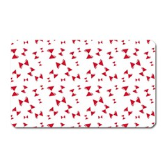 Hour Glass Pattern Red White Triangle Magnet (rectangular) by Alisyart