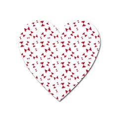 Hour Glass Pattern Red White Triangle Heart Magnet by Alisyart