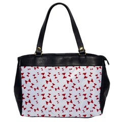 Hour Glass Pattern Red White Triangle Office Handbags by Alisyart