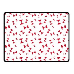 Hour Glass Pattern Red White Triangle Fleece Blanket (small) by Alisyart