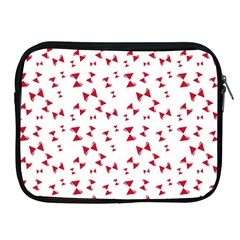 Hour Glass Pattern Red White Triangle Apple Ipad 2/3/4 Zipper Cases by Alisyart