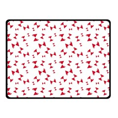 Hour Glass Pattern Red White Triangle Double Sided Fleece Blanket (small)  by Alisyart