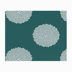 Green Circle Floral Flower Blue White Small Glasses Cloth by Alisyart