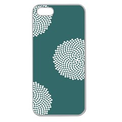 Green Circle Floral Flower Blue White Apple Seamless Iphone 5 Case (clear) by Alisyart