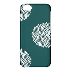 Green Circle Floral Flower Blue White Apple Iphone 5c Hardshell Case by Alisyart