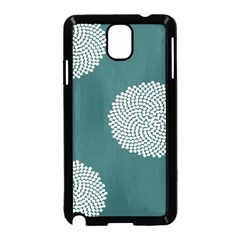 Green Circle Floral Flower Blue White Samsung Galaxy Note 3 Neo Hardshell Case (black) by Alisyart