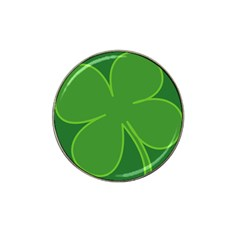 Leaf Clover Green Hat Clip Ball Marker (4 Pack) by Alisyart