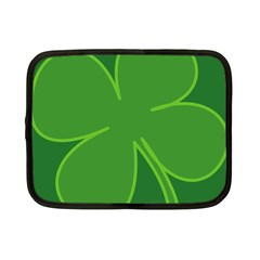 Leaf Clover Green Netbook Case (small)  by Alisyart