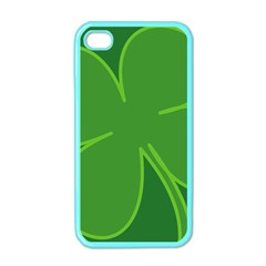 Leaf Clover Green Apple Iphone 4 Case (color) by Alisyart