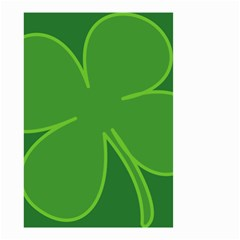Leaf Clover Green Small Garden Flag (two Sides) by Alisyart