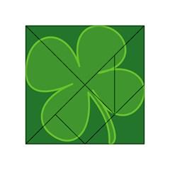 Leaf Clover Green Acrylic Tangram Puzzle (4  X 4 ) by Alisyart