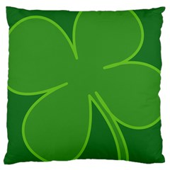 Leaf Clover Green Large Cushion Case (two Sides) by Alisyart
