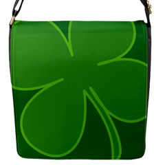 Leaf Clover Green Flap Messenger Bag (s) by Alisyart