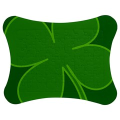 Leaf Clover Green Jigsaw Puzzle Photo Stand (bow) by Alisyart