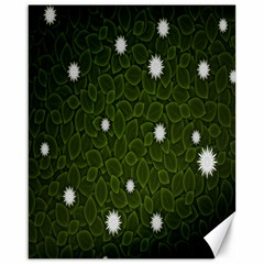 Graphics Green Leaves Star White Floral Sunflower Canvas 16  X 20   by Alisyart