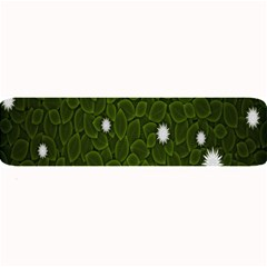 Graphics Green Leaves Star White Floral Sunflower Large Bar Mats by Alisyart