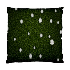 Graphics Green Leaves Star White Floral Sunflower Standard Cushion Case (one Side) by Alisyart
