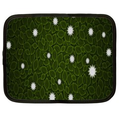 Graphics Green Leaves Star White Floral Sunflower Netbook Case (xxl)  by Alisyart