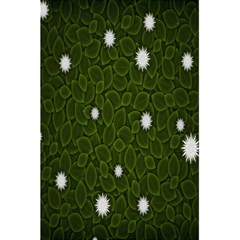 Graphics Green Leaves Star White Floral Sunflower 5 5  X 8 5  Notebooks by Alisyart