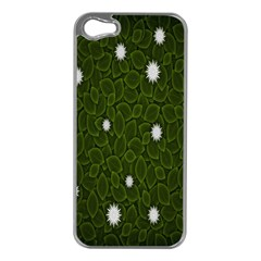 Graphics Green Leaves Star White Floral Sunflower Apple Iphone 5 Case (silver) by Alisyart