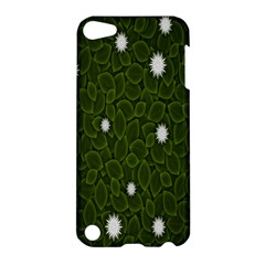 Graphics Green Leaves Star White Floral Sunflower Apple Ipod Touch 5 Hardshell Case by Alisyart