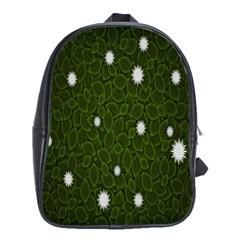 Graphics Green Leaves Star White Floral Sunflower School Bags (xl)  by Alisyart
