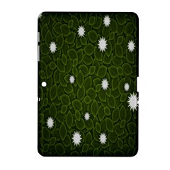 Graphics Green Leaves Star White Floral Sunflower Samsung Galaxy Tab 2 (10 1 ) P5100 Hardshell Case  by Alisyart