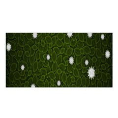 Graphics Green Leaves Star White Floral Sunflower Satin Shawl by Alisyart