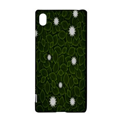 Graphics Green Leaves Star White Floral Sunflower Sony Xperia Z3+ by Alisyart