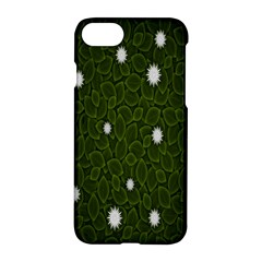 Graphics Green Leaves Star White Floral Sunflower Apple Iphone 7 Hardshell Case by Alisyart