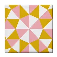 Learning Connection Circle Triangle Pink White Orange Tile Coasters by Alisyart