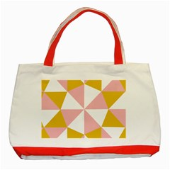 Learning Connection Circle Triangle Pink White Orange Classic Tote Bag (red) by Alisyart