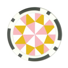 Learning Connection Circle Triangle Pink White Orange Poker Chip Card Guard by Alisyart