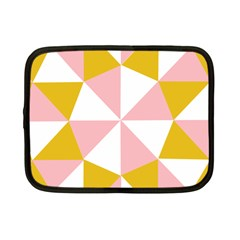 Learning Connection Circle Triangle Pink White Orange Netbook Case (small)  by Alisyart