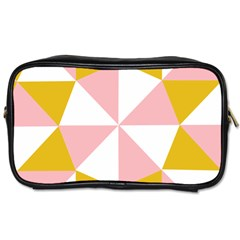 Learning Connection Circle Triangle Pink White Orange Toiletries Bags 2 Side by Alisyart