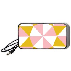 Learning Connection Circle Triangle Pink White Orange Portable Speaker (black) by Alisyart