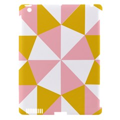 Learning Connection Circle Triangle Pink White Orange Apple Ipad 3/4 Hardshell Case (compatible With Smart Cover) by Alisyart