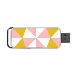 Learning Connection Circle Triangle Pink White Orange Portable Usb Flash (two Sides) by Alisyart