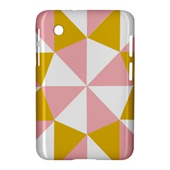 Learning Connection Circle Triangle Pink White Orange Samsung Galaxy Tab 2 (7 ) P3100 Hardshell Case  by Alisyart