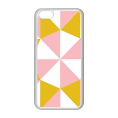 Learning Connection Circle Triangle Pink White Orange Apple Iphone 5c Seamless Case (white) by Alisyart