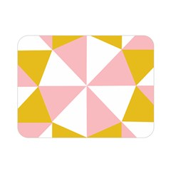 Learning Connection Circle Triangle Pink White Orange Double Sided Flano Blanket (mini)  by Alisyart