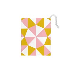 Learning Connection Circle Triangle Pink White Orange Drawstring Pouches (xs)  by Alisyart