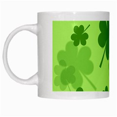 Leaf Clover Green Line White Mugs by Alisyart